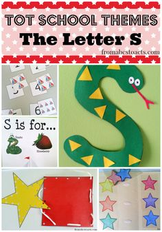 Tot School Themes - The Letter S | From ABCs to ACTs