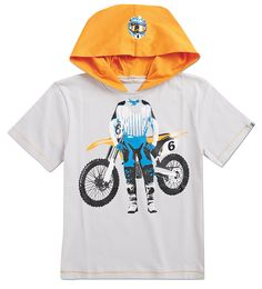 From CWDkids: Motocross Hooded Tee.