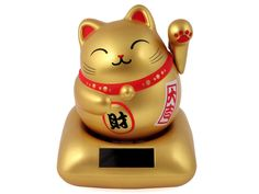 Auspicious Gold Solar Power Cat