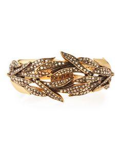 Y2HGV Oscar de la Renta Crystal Spike Hinge Bracelet