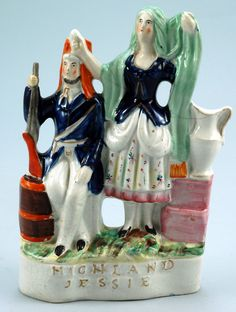 Image detail for -Staffordshire Pottery Figure – Highland Jessie