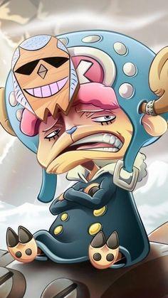 Franky x Chopper One Piece Manga, One Piece Ace, Chopper One Piece, One Piece Drawing, One Piece Comic, One Piece Luffy, One Piece Fanart, Me Anime, Anime Art