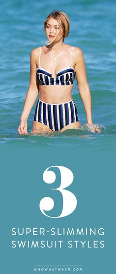 Flattering swimsuit styles that will make you appear more slim