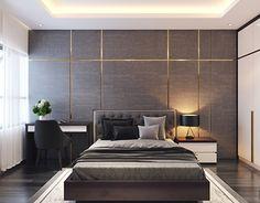 Bedroom- Style Luxury on Behance Bedroom False Ceiling Design, Master Bedroom Interior, Bedroom Furniture Design, Modern Bedroom Design, Home Room Design, Master Bedroom Design, Contemporary Bedroom, Living Room Interior, Bedroom Wall