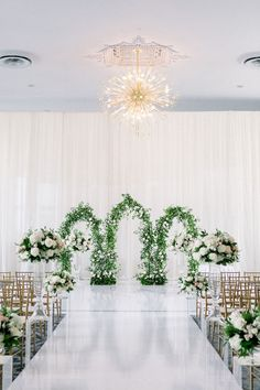 A Trio Of Garden-Inspired Ceremony Arches Wows At This Toronto Wedding Indoor Wedding Arches, Indoor Wedding Ceremonies, Indoor Ceremony, Wedding Ceremony Backdrop, Ceremony Arch, Ceremony Decorations, Wedding Themes, Wedding Venues, Wedding Decor