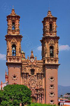 Santa Prisca Church . Taxco Mexico