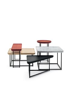 Torei side tables by Luca Nichetto