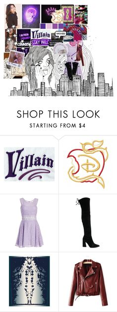 """""""i got friends on the other side"""" by daziahleemarie ❤ liked on Polyvore featuring Villain, Disney, DailyLook and Stuart Weitzman"""