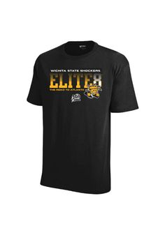 Wichita State University (WSU) Shockers Black Elite 8 Shirt http://www.rallyhouse.com/college/wichita-state-shockers/a/mens/b/clothing/c/t-shirts?utm_source=pinterest&utm_medium=social&utm_campaign=Pinterest-WSUShockers