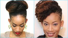 How to style an old twist out   Updo   Natural Hair   4c Hair   Hair Tut...