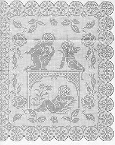 angelots Crochet Patterns Filet, Crochet Angel Pattern, Crochet Angels, Christmas Crochet Patterns, Crochet Stitches, Crochet Curtains, Crochet Doilies, Cross Stitch Designs, Cross Stitch Patterns