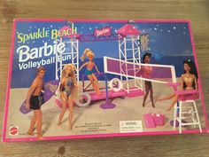 Barbie Volleyball Fun Sparkle Beach Playset 1995 Arcotoys Mattel for sale online Barbie 90s, Barbie Makeup, Barbie Life, Barbie Dream, Vintage Barbie Dolls, Barbie World, Barbie And Ken, Barbie Clothes, Barbie Stuff