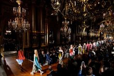 Models take to the catwalk at the end of the presentation of the Spring/Summer 2016 Ready to Wear collection by British designer Stella McCartney during the Paris Fashion Week, in Paris, Franceon October 5th, 2015. The presentation of the Women's collections runs from the 29th September  until the 7th of October.  Photograph: Yoan Valat/EPA