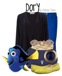 """Dory"" by disney-teen ❤ liked on Polyvore featuring Polo Ralph Lauren, Chloé, Proenza Schouler, Nine West, Chico's and Lucky Brand"