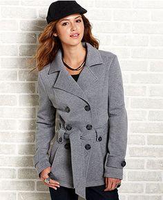YMI Juniors Coat Belted Hooded Peacoat | Clothing | Pinterest