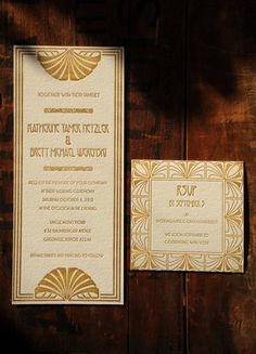 Art Deco invitations!