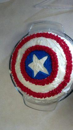 Tristan's 8th bday. Captain America cake
