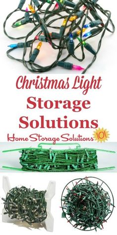 These Christmas light storage solutions keep you from having to fight with tangled strings and strands of lights, which makes your life easier, and allows you to enjoy a bright and sparkling holiday season without frustration {on Home Storage Solutions 101} #ChristmasStorage #HolidayStorage #ChristmasLights Attic Organization, Attic Storage, Organizing Tips, Organising, Christmas Lights, Christmas Fun, Holiday Fun, Holiday Crafts, Christmas Decorations