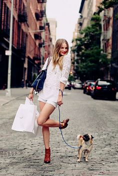 summer style in the city {the cutest accessory a girl can have is a pup!}