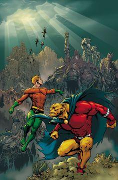 Aquaman and Etrigan by Jesus Saiz