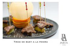Tiras de buey a la piedra #boda #catering #jaca #andalucía #gourmet
