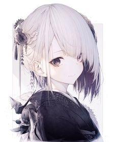 Pics of best girls with short hair. Manga Anime Girl, Anime Cat, Manhwa, Artist Album, Cute Anime Guys, Female Anime, Girl Short Hair, Character Illustration, Anime Style