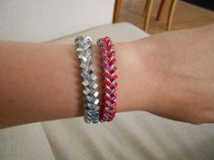 colourful hex nut bracelet DIY
