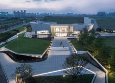 Image 18 of 31 from gallery of Media Future Center / XAA. Photograph by Ripei Qiu Hotel Architecture, Landscape Architecture, Architecture Design, Landscape Stairs, Urban Design, Mansions, Future, House Styles, Gallery
