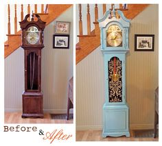 1000 Images About Grandfather Clock Makeover On Pinterest