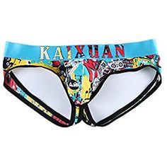 G Sir Men's Sexy Printed Jockstrap Thong Underwear Athletic Supporter,Graffiti,XXL