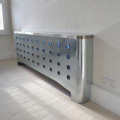 Galvanised radiator covers in ultra modern home with blue lighting 1000.jpg (1000×1000)