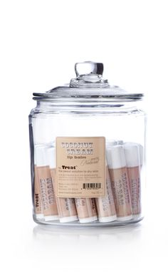 Coconut Cream Jumbo Lip Balm Display www.treatbeauty.com