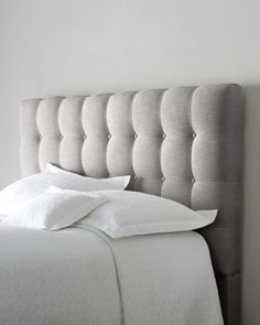"""I love the tufted headboards, & this one especially in Sea Mist! 