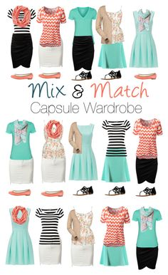 Capsule Wardrobe: Mint and Peach by mary-grace-see on Polyvore featuring moda, Kate Spade, Hurley, Musto, Dolce&Gabbana, Roland Mouret, Repetto, Not Rated, Smartwool and wardrobe