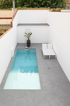 Modern Coastal, Coastal Decor, Narrow Garden, Outside Plants, Small Pool Design, Small Pools, Mountain Homes, Garden Pool, Pool Designs