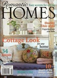 Romantic Homes magazine cover.  Needlepoint pillow, and the colors.
