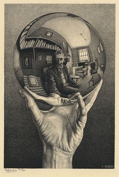 M.C. ESCHER (1898-1972) - Hand with a Reflecting Sphere, 1935