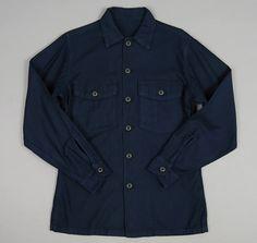 LATRE: Vietnam Era Utility Shirt, Overdyed Blue