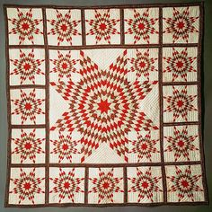 Star of Bethlehem Quilt Date: ca. 1845 Geography: Mid-Atlantic, New York, United States Culture: American Medium: Cotton Dimensions: 90 x 89 1/4 in. (228.6 x 226.7 cm) Classification: Textiles