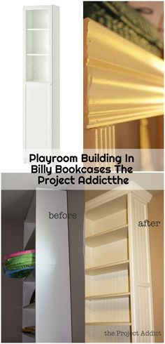 Playroom Building In Billy Bookcases The Project Addictthe - ikea-billy-bookcase-hack Ikea Billy Bookcase Hack, Billy Bookcases, Playroom, Cabinet, Storage, Building, Projects, Furniture, Home Decor