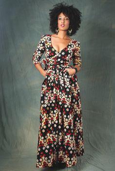 Sarai Wrap & Go Dress ~African fashion, Ankara, kitenge, African women dresses, African prints, African men's fashion, Nigerian style, Ghanaian fashion ~DKK