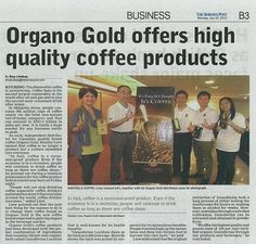 Organo Gold featured in The Borneo Post