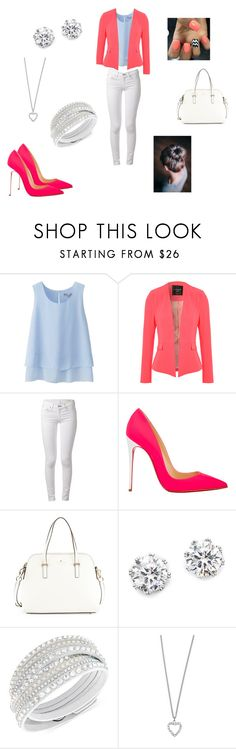 Hollywood by tsigemcclelland on Polyvore featuring Uniqlo, Jane Norman, rag & bone, Christian Louboutin, Kate Spade, Swarovski, Kenneth Jay Lane and Yves Saint Laurent