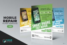 Smartphone Repair Flyer by ThemeDevisers on @creativemarket