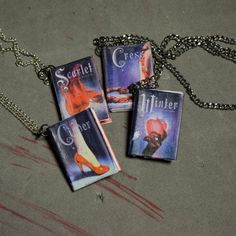 New book inspired jewelry! Who wouldn't want to wear their favorite book!?!  The Lunar Chronicle series