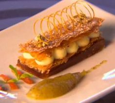Pressure Test: Deconstructed Milk Tart with Warm Apple Moes | Recipes | Masterchef South Africa | SA Reality TV Show