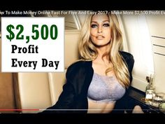 How To Make Money Online Fast 2017 - $500 to $2,500 PER DAY WITH ONLINE -  http://www.wahmmo.com/how-to-make-money-online-fast-2017-500-to-2500-per-day-with-online/ -  - WAHMMO