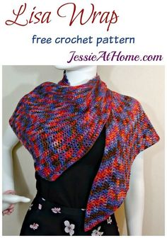 Lisa Wrap free crochet pattern by Jessie At Home: