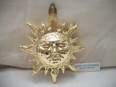 vintage Sun face Christmas ornament