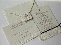 Louisiana Wedding Invitation   Papel Vivo